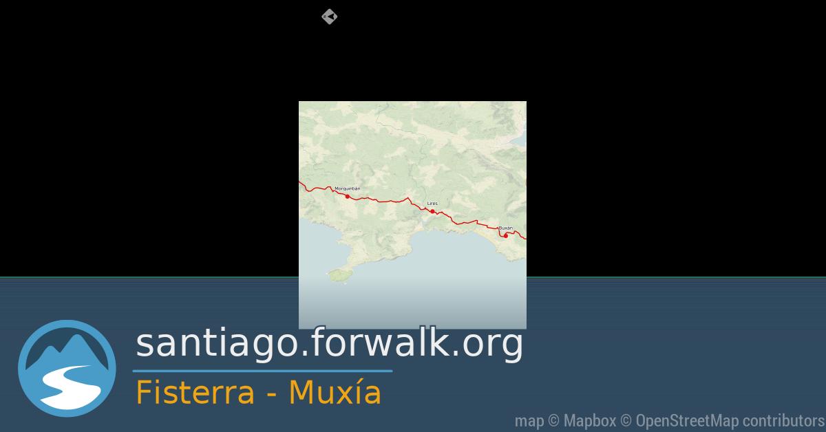 El Camino de Santiago  mapa de la ruta Fisterra - Muxía El Camino a Finisterre y Muxia